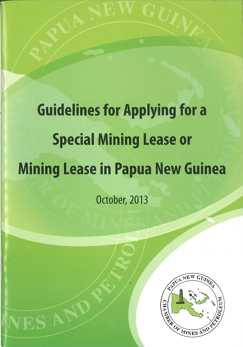Guidelines for Applying for a Special Mining Lease