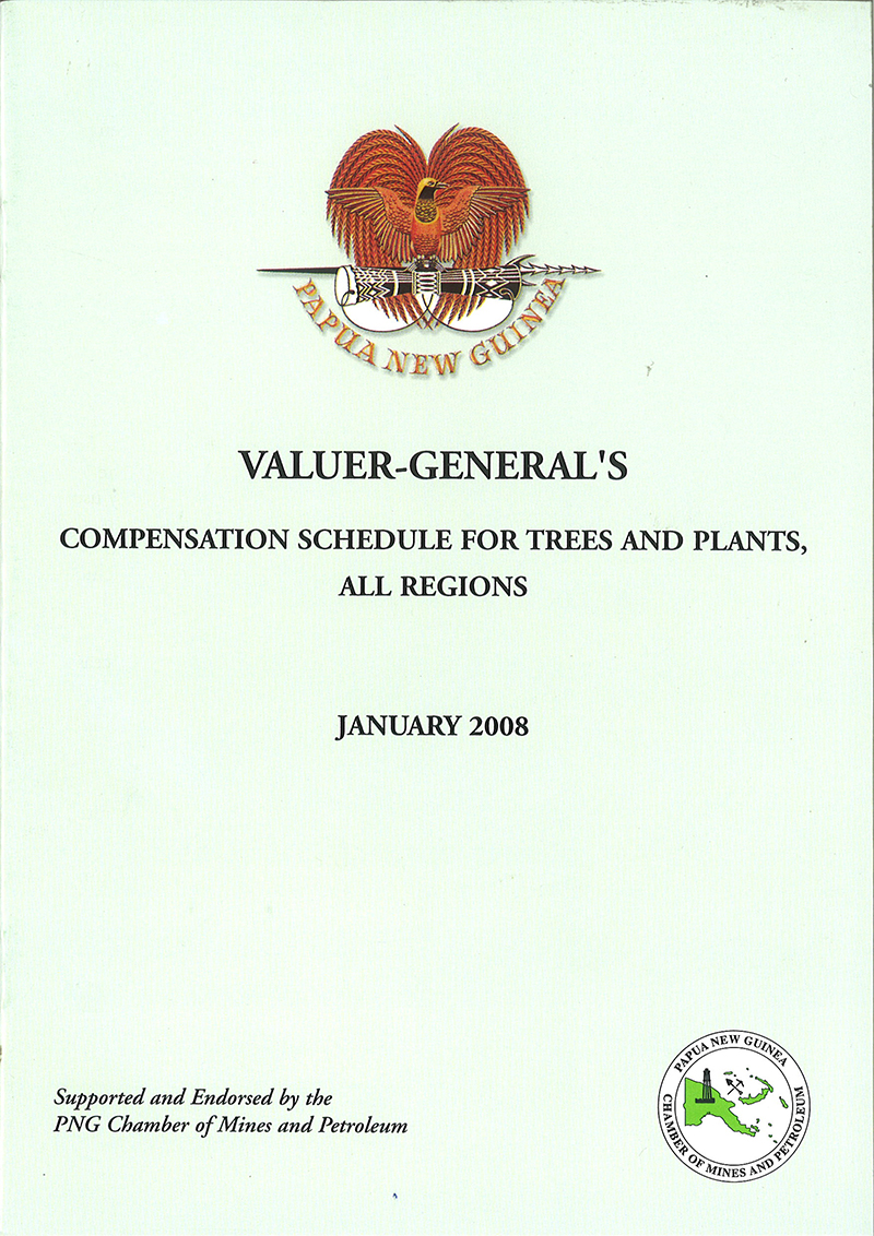 Valuer General Compensation Schedule for Trees and Plants