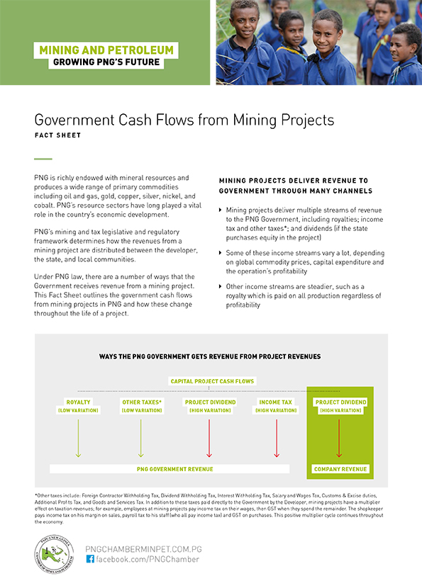 Government Cash Flows from Mining Projects
