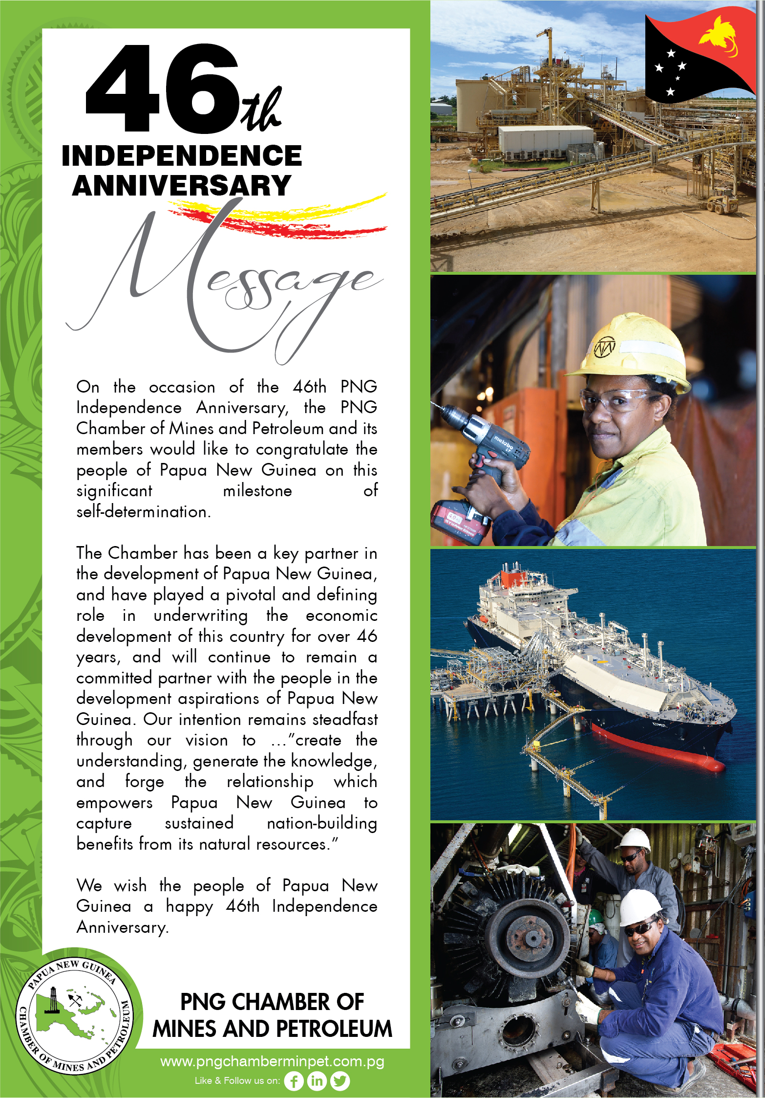 PNG 46th Independence Message